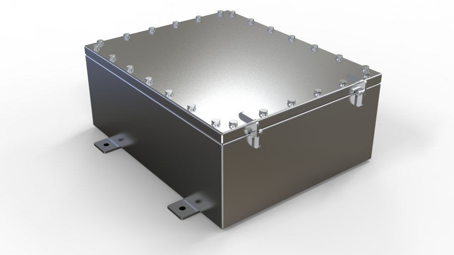 NEMA6P / IP68 Submersible Enclosure, Junction Box, Rated 15ft / 5m, Stainless Steel, Waterproof electrical enclosure housing