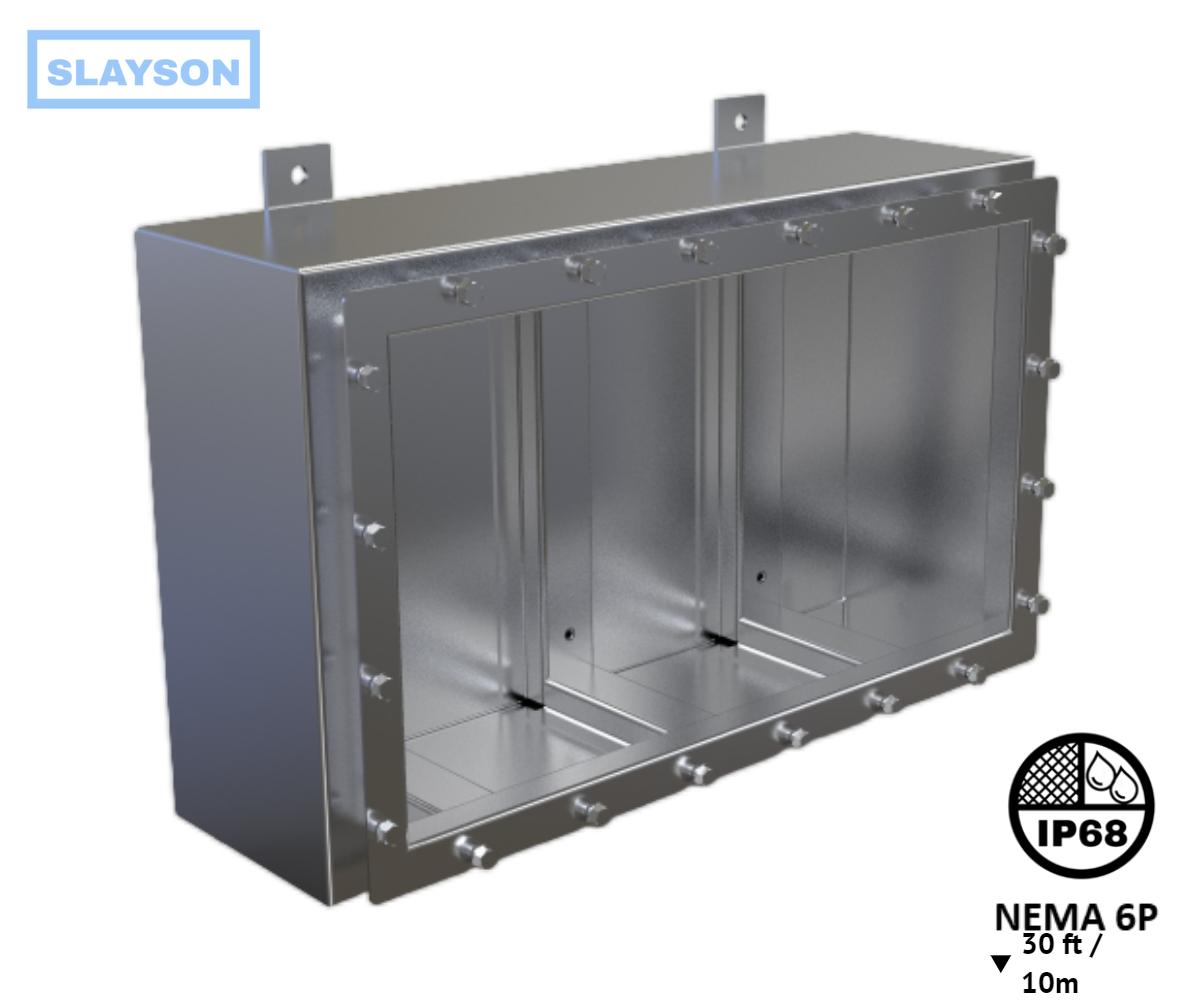 NEMA6P / IP68 Submersible Junction Box, Enclosure, Rated 30ft / 10