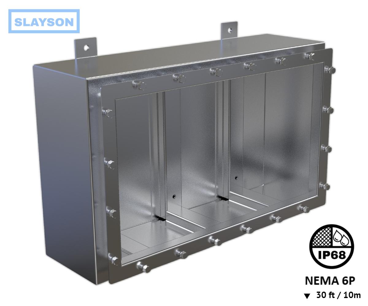 NEMA 6P Submersible Enclosure / Junction Box Rated 30ft / 10 - IP68
