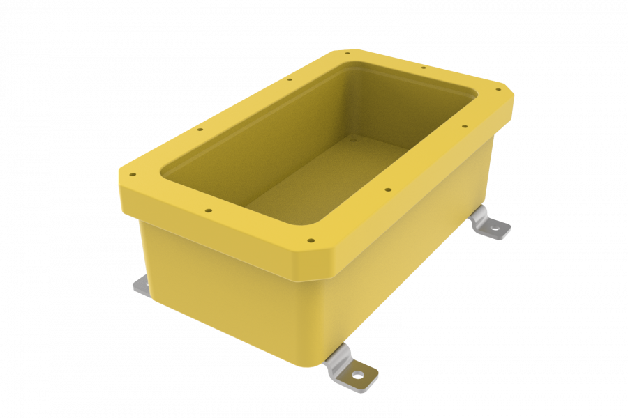 NEMA6P / IP68 Submersible Composite Polyurethane Enclosure, Subsea pressure vessel housing, Junction Box, Submersible Battery Box, Q-Box 50m / 164ft, fox box,