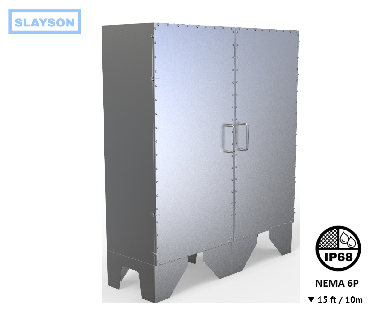 NEMA6P / IP68 Submersible Cabinet, Server Rack, Rated 15ft / 5m