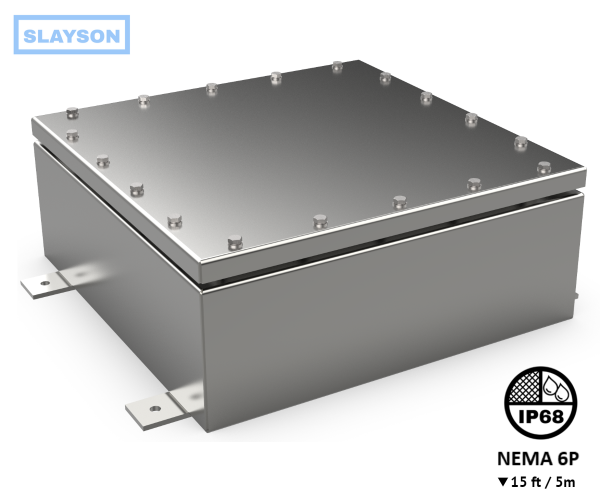 NEMA6P / IP68 Submersible Junction Box, Enclosure, Rated 15ft / 5m