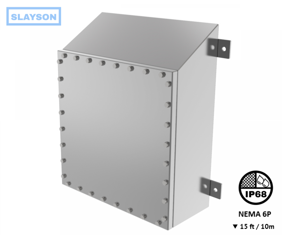 NEMA6P / IP68 Submersible Watershed Junction Box, Enclosure, Rated 15ft / 5m