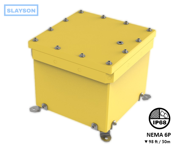 NEMA6P / IP68 Submersible Composite Polyurethane Enclosure, Subsea pressure vessel housing, Junction Box, Submersible Battery Box, Q-Box 30m / 98ft