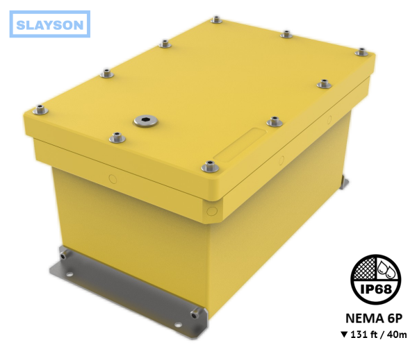 NEMA6P / IP68 Submersible Composite Polyurethane Enclosure, Subsea pressure vessel housing, Junction Box, Submersible Battery Box, 40m / 131ft