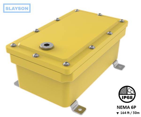 NEMA6P / IP68 Submersible Composite Polyurethane Enclosure, Subsea pressure vessel housing, Junction Box, Submersible Battery Box, Q-Box 50m / 164ft, fox box,