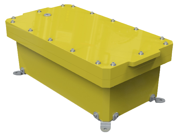 NEMA6P / IP68 Submersible Composite Polyurethane Enclosure, Subsea pressure vessel housing, Junction Box, Submersible 80m / 262ft